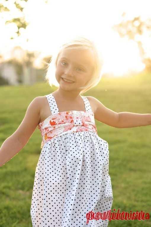 Простой сарафан для девочки!  #portnishka #легкий_крой #детские_выкройки
