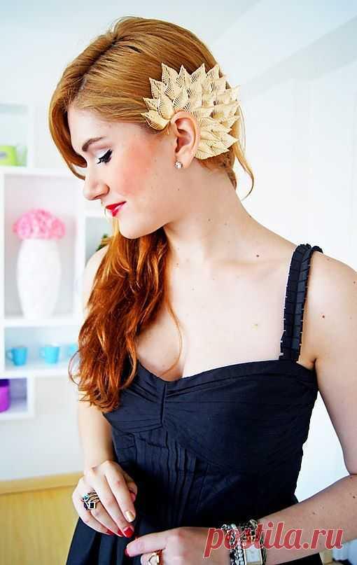 Листья на ушах / Украшения и бижутерия / Модный сайт о стильной переделке одежды и интерьера