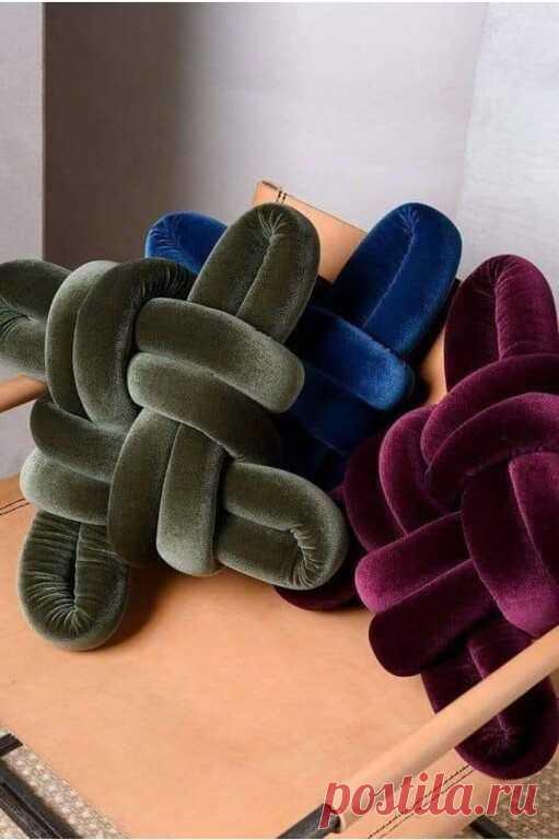 Оригинальные декоративные подушки для дома, которые можно сделать своими руками.