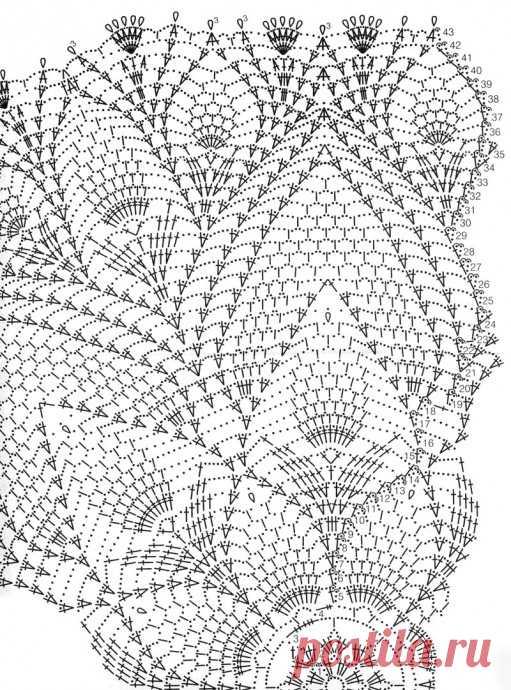 Схемы для очень красивых салфеток крючком