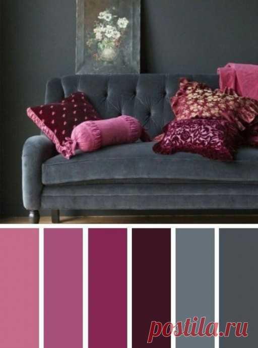 Красивые сочетания с благородными темными цветам