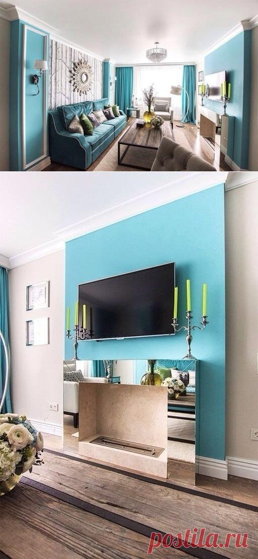 Бирюзовая гостиная - Дизайн интерьеров | Идеи вашего дома | Lodgers