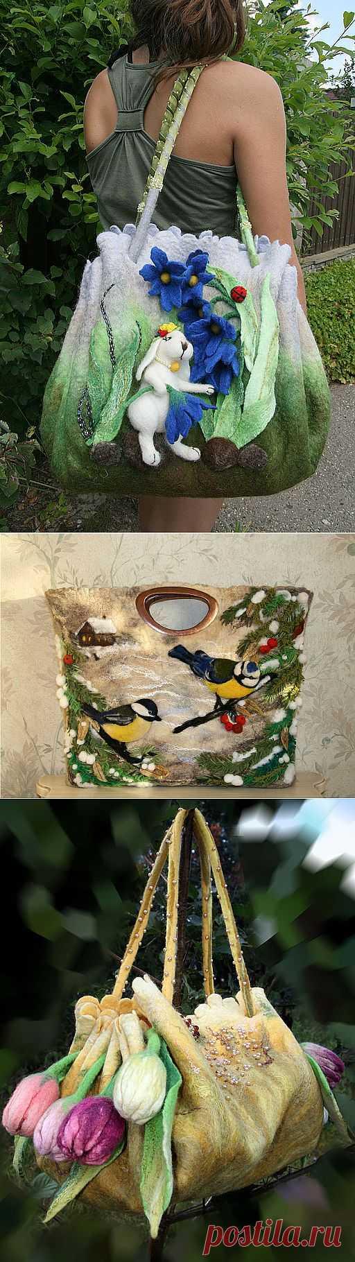 Необычные сумки Екатерины Тасминской.