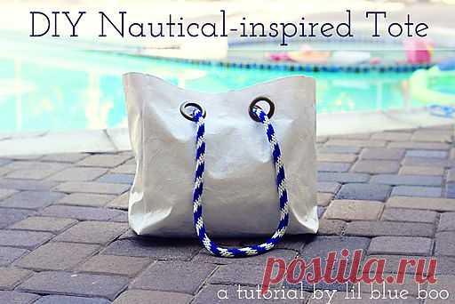 Переделка пляжной сумки (мастер-класс) / Сумки, клатчи, чемоданы / Модный сайт о стильной переделке одежды и интерьера