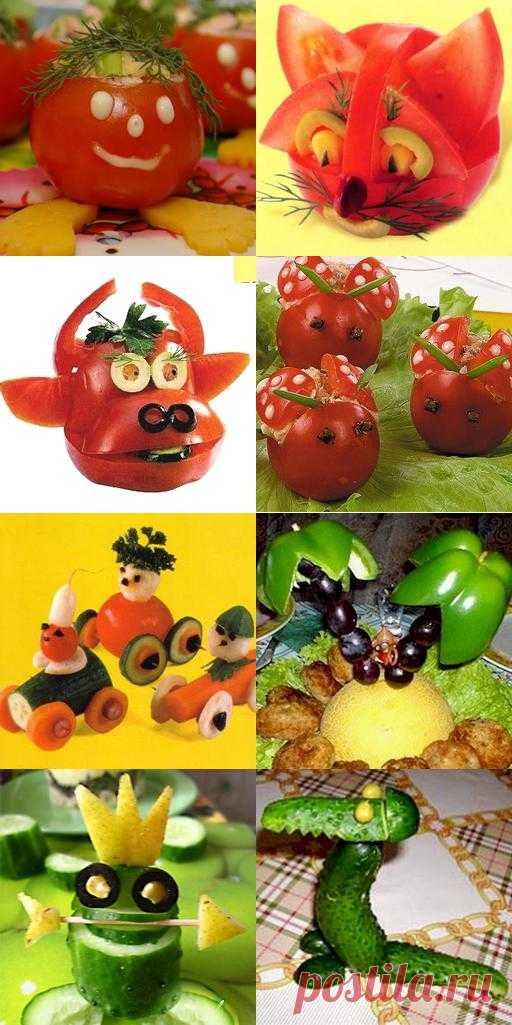 День рождения ребенка: украшение блюд (в картинках)-вот что нашла в закладки (себе) / украшение блюд в картинках