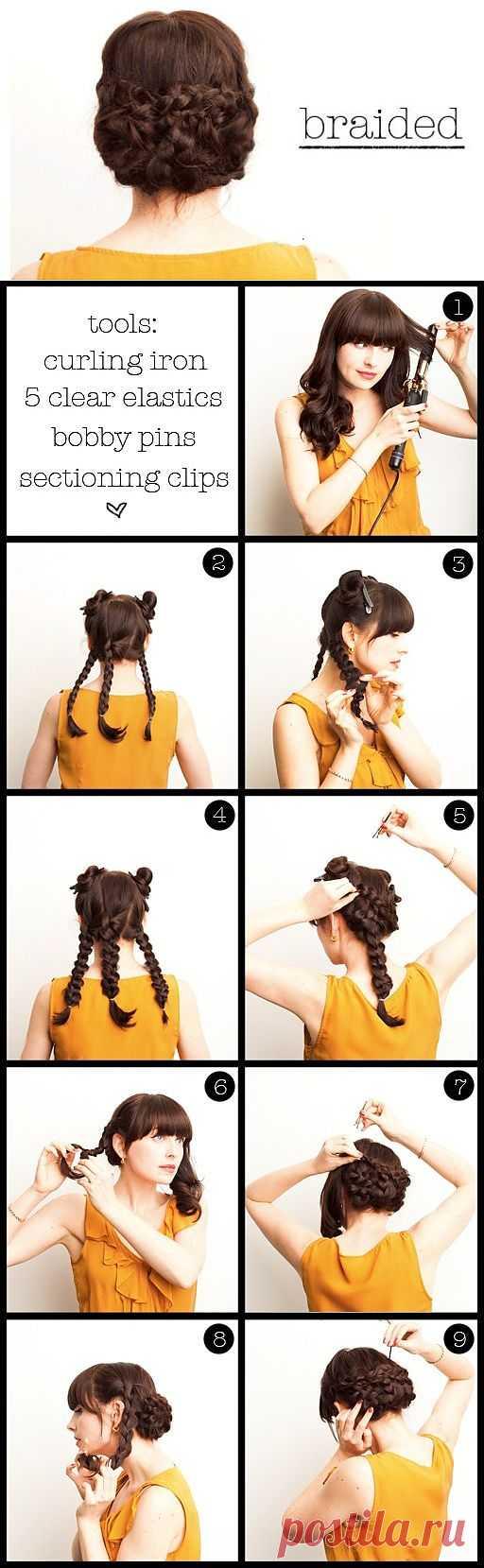 Прическа из пяти косичек / Прически / Модный сайт о стильной переделке одежды и интерьера