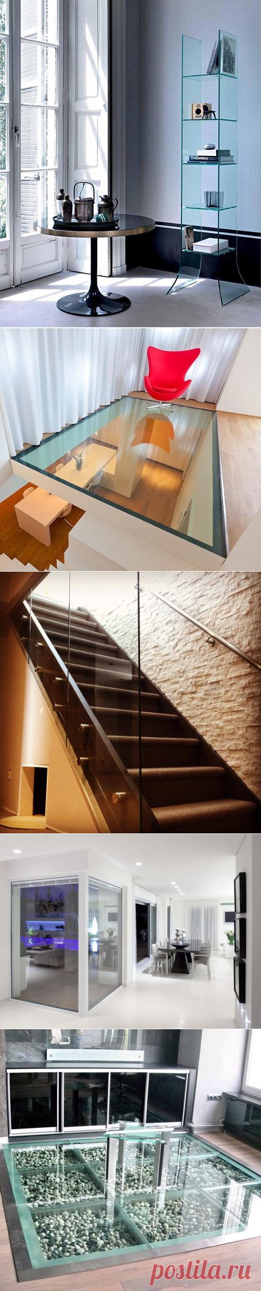 Стеклянные элементы интерьера — Наши дома