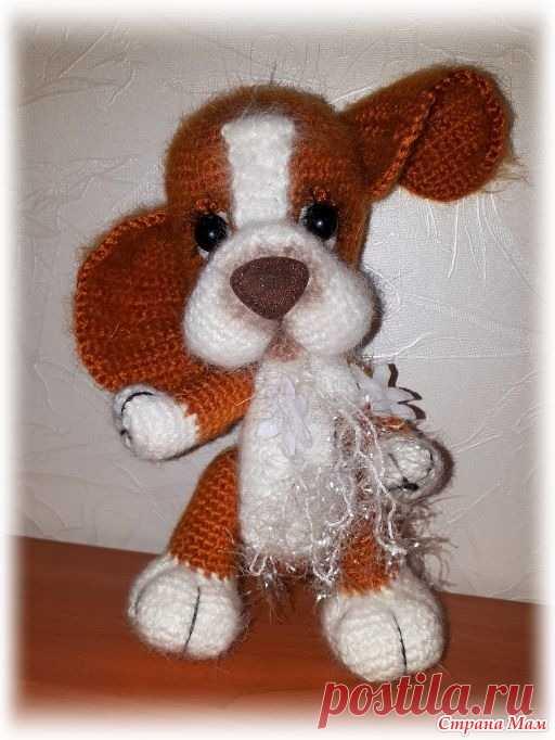 Щенок Бублик  - символ 2018 года (крючок) Первая моя вязаная игрушка - это овечка к Новому 2015 году http://www.stranamam.ru/ Благодаря тому, что искала ее описание попала на этот сайт Страны МАМ, чему очень-очень рада.