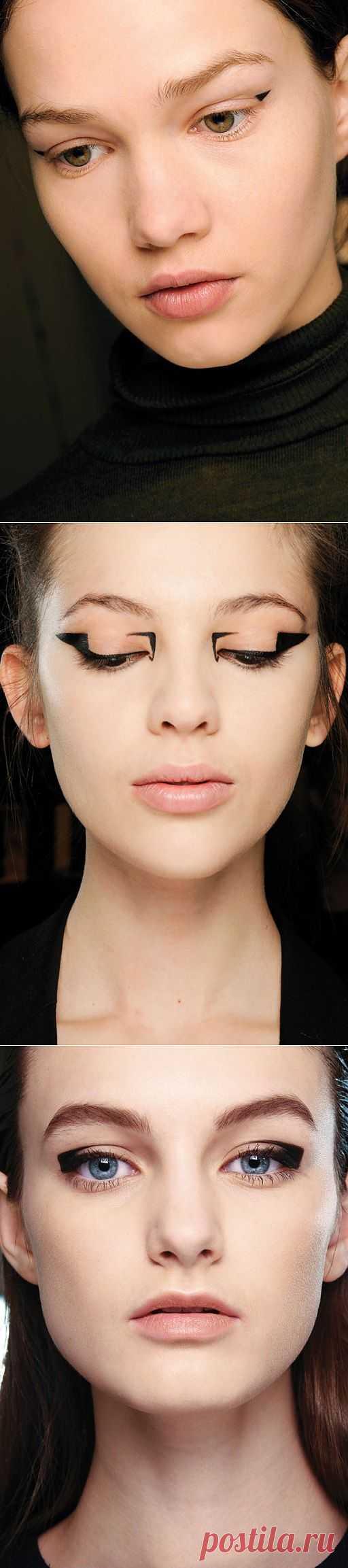 Графичные стрелки на глазах (подборка) / Макияж/Маникюр / Модный сайт о стильной переделке одежды и интерьера