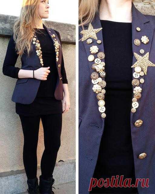 Из мужского пиджака- в женский стильный жакет