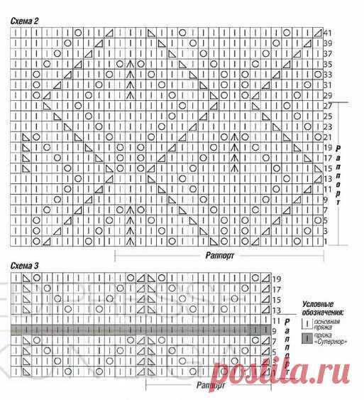 схемы вязания листики на однофонтурной вязальной машине 14 тыс
