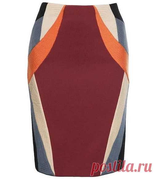Modelamos la falda en el estilo kolor el bloque — las Clases maestras en BurdaStyle.ru