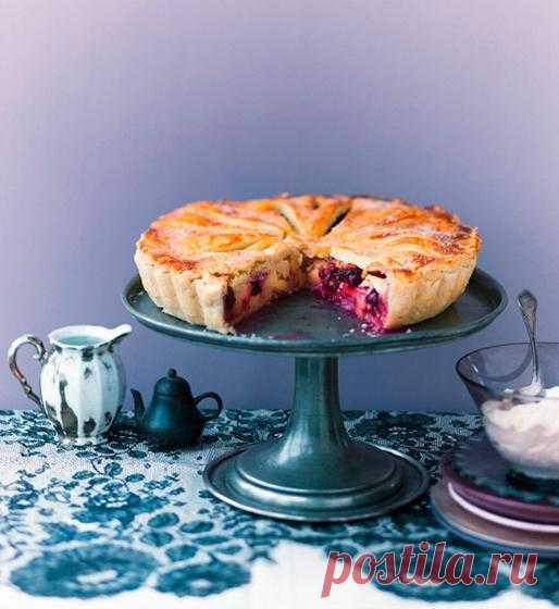 Заливной пирог с яблоками.