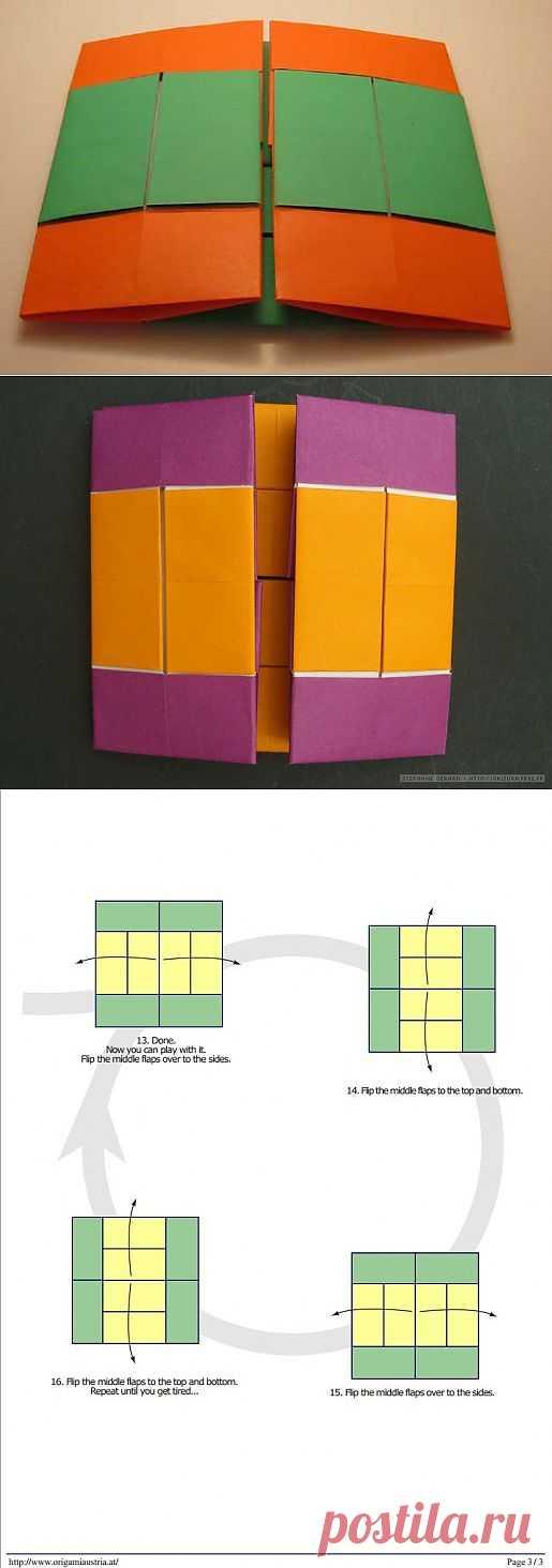 Бесконечный флиппер по схеме Anna Kastlunger. Это головоломка для любителей оригами.