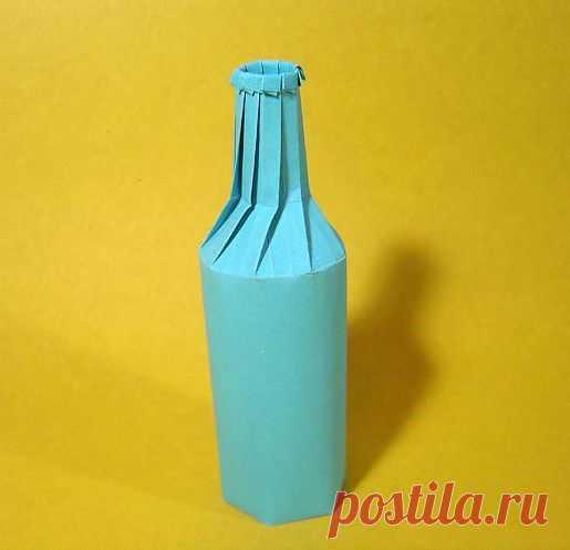 Бутылка из бумаги. Простые схемы