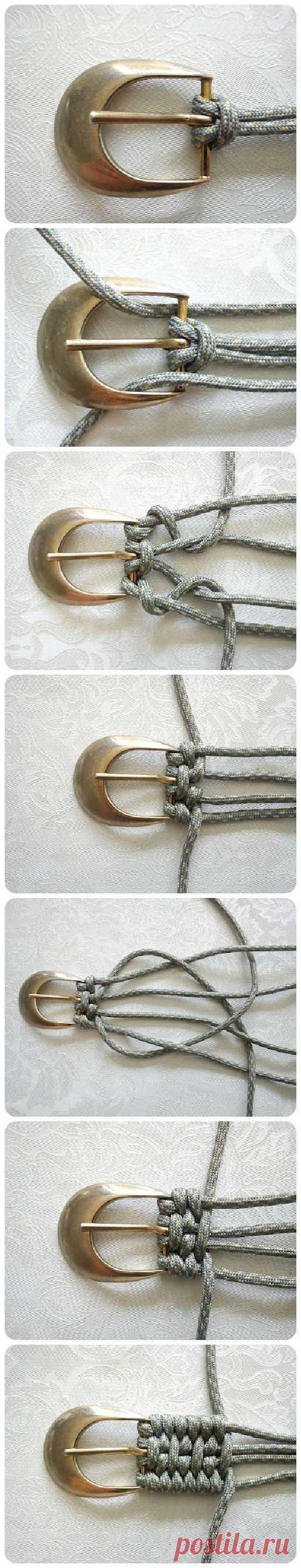Как сплести ремень (Diy) Модная одежда и дизайн интерьера своими руками