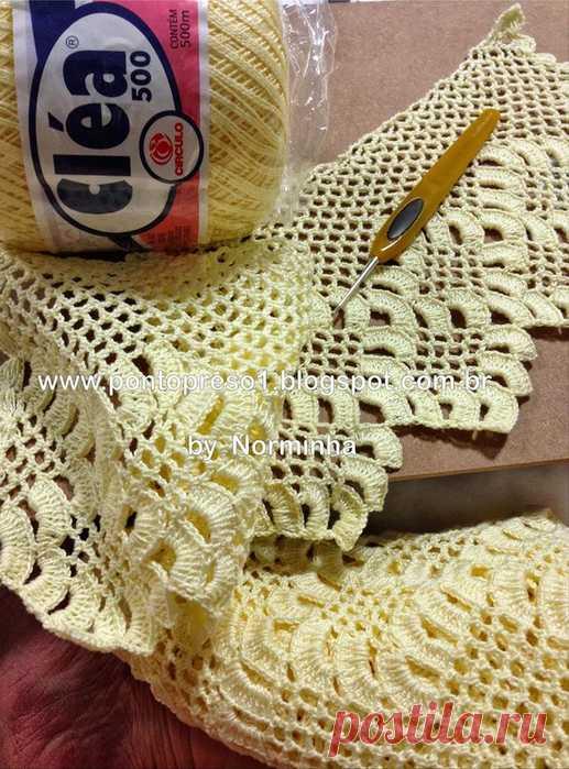 Вязание: новая кайма крючком от Norminha