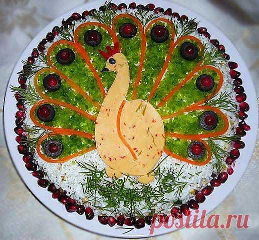 """Праздничные салаты с фото. Салат """"Жар-птица"""""""
