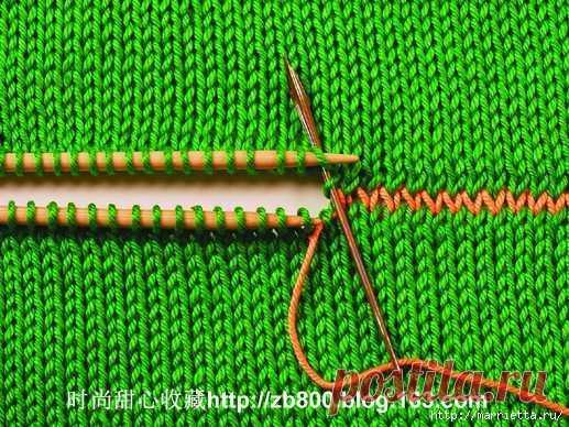 Способы соединения вязаных спицами деталей