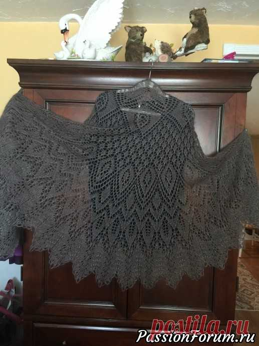 ШАЛЬ ПОЛИАННА - запись пользователя liyene (NADEZHDA) в сообществе Вязание спицами в категории Вязание шали спицами