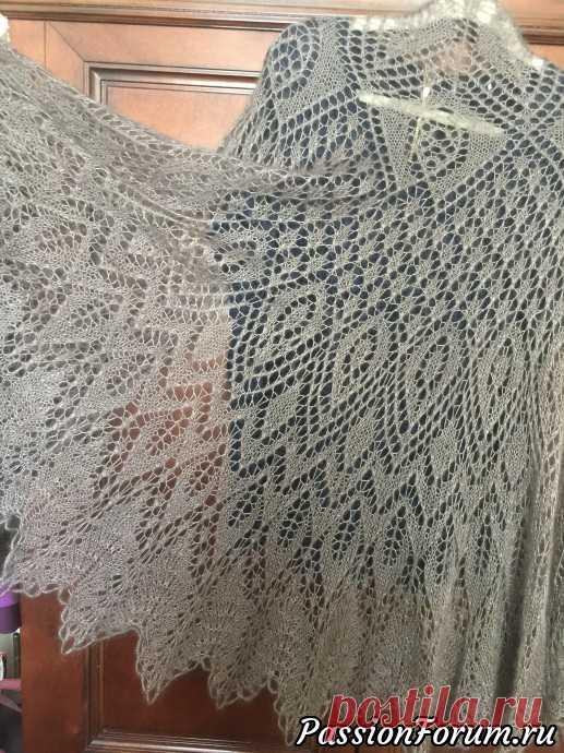Моя очередная шаль, нашла описание у Светлинки - запись пользователя liyene (NADEZHDA) в сообществе Вязание спицами в категории Вязание шали спицами