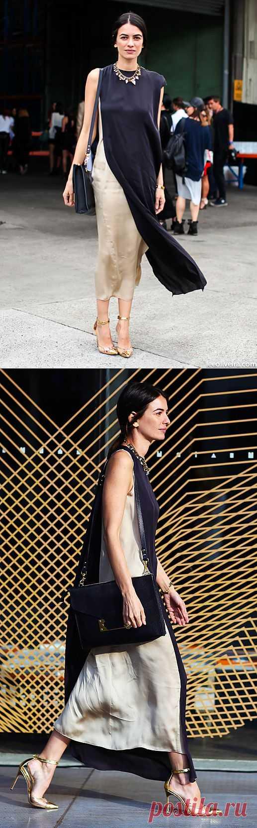 Двухслойное платье / Street Style / Модный сайт о стильной переделке одежды и интерьера