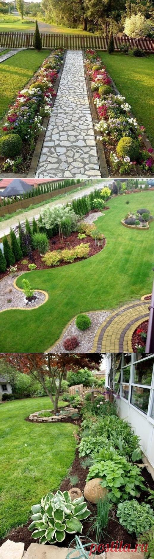 Интересные идеи вариантов красивого озеленения сада