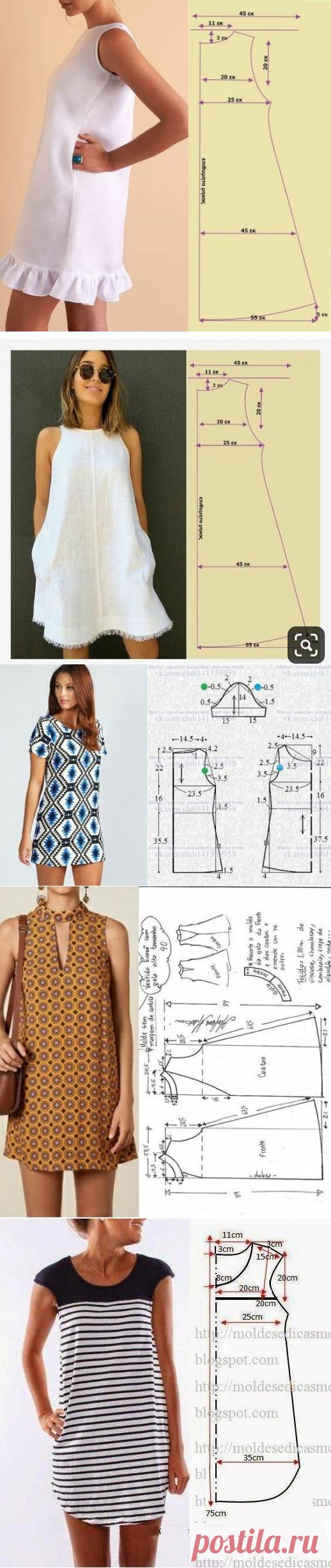 БЕРИ И ШЕЙ: Из одной простой выкройки шьем 5 разных моделей летнего платья. | Швейный омут | Яндекс Дзен