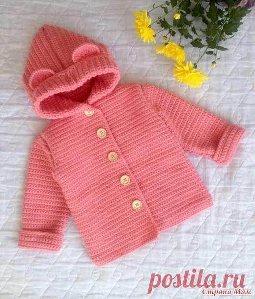 Детское пальто (кардиган) крючком - Вязание - Страна Мам