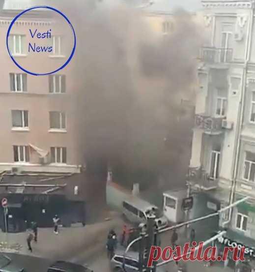 Взрыв у офиса Медведчука в Киеве