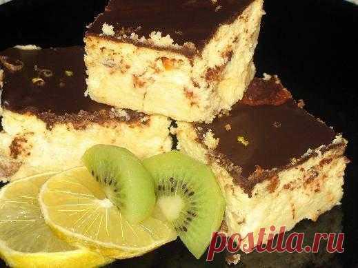 Сырник лимонный с шоколадом - Рецепты с фото