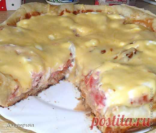 Пицца на сковороде за 15 мин