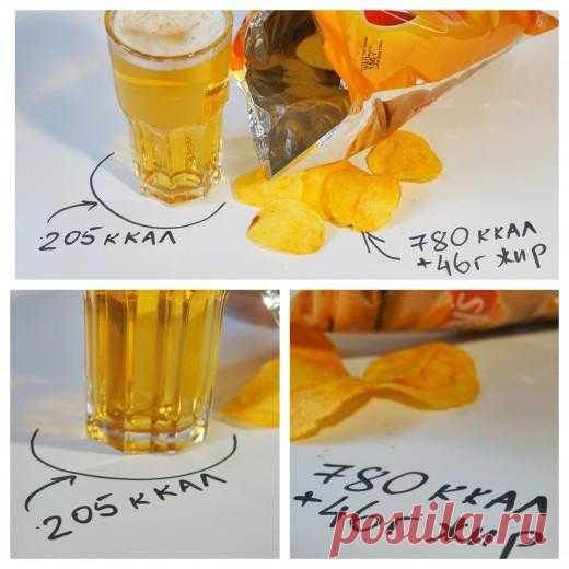 Привычная еда: пиво + чипсы = ♥…? | Лайфхакер