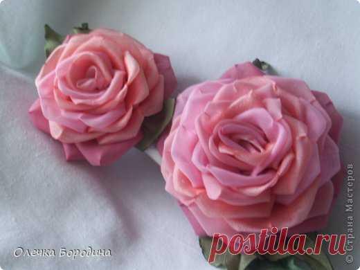 Мастер класс: Пышные розы из шелка