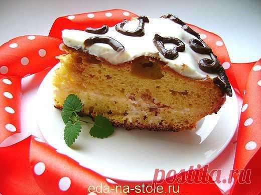 Торт на кефире   Еда на столе