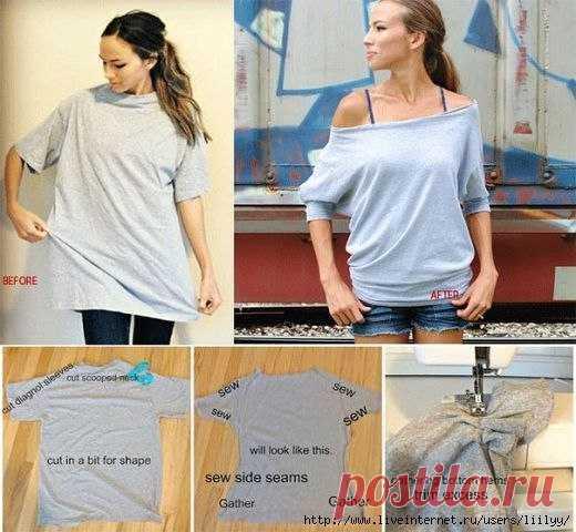Переделка футболок (Шитье и крой) — Журнал Вдохновение Рукодельницы