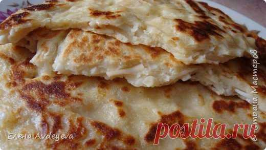 Хачапури быстрые на сковороде из кобласного сыра | Страна Мастеров
