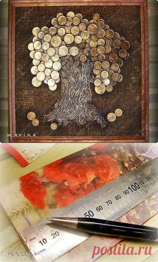 "Панно ""денежное дерево"". Мастер-класс."