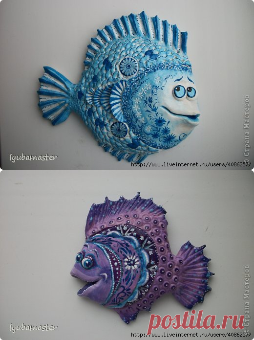Ажурные Объемные Рыбы (лепка). Мастер Класс