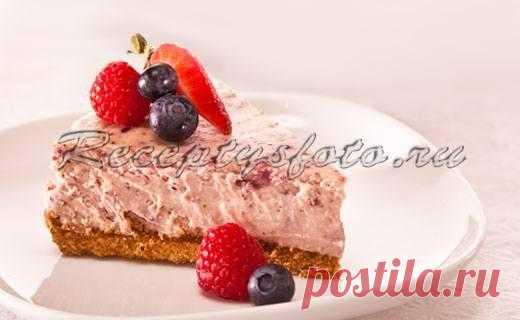 Цитрусовый чизкейк с ягодами – Рецепты с фото