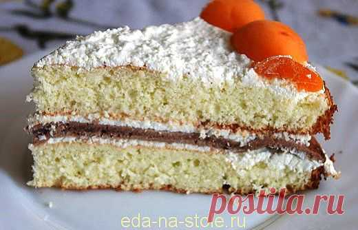 Абрикосовый пирог с кремом   Еда на столе