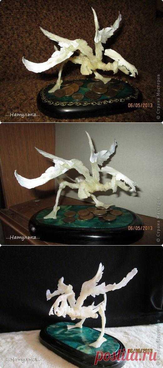 Кощей над златом чахнет.. Ещё один МК из рыбных костей по изготовлению такого вот чудовища, но милого)))