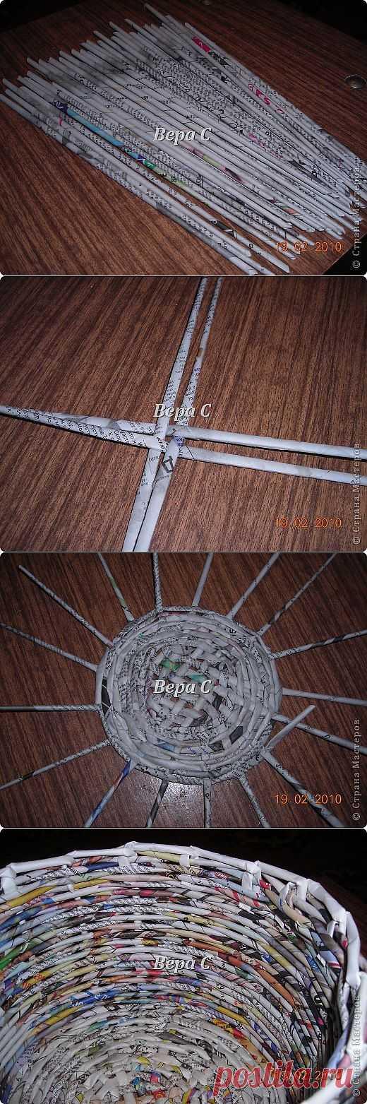 Мастер класс плетения из газеты для новичков | Страна Мастеров