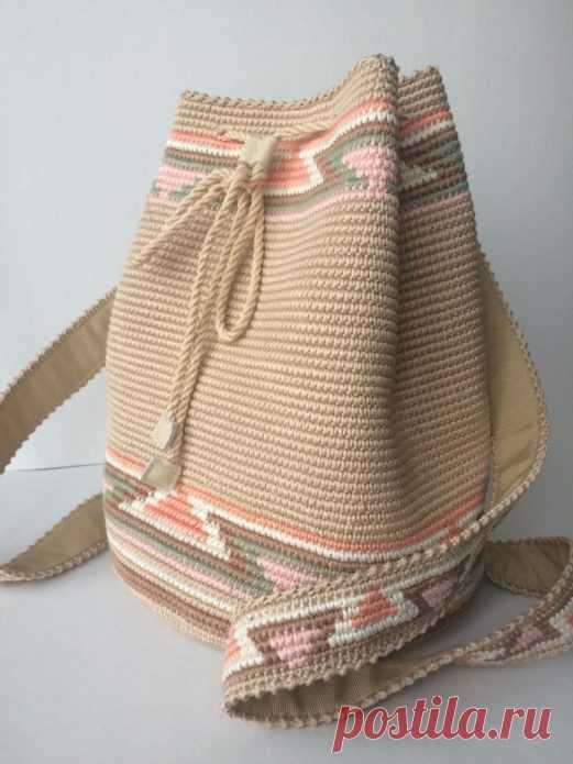 Модные вязаные сумки крючком: подборка вариантов на фото