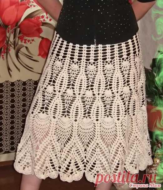 Бесподобно красивая юбка крючком по схеме веера   вязание ...