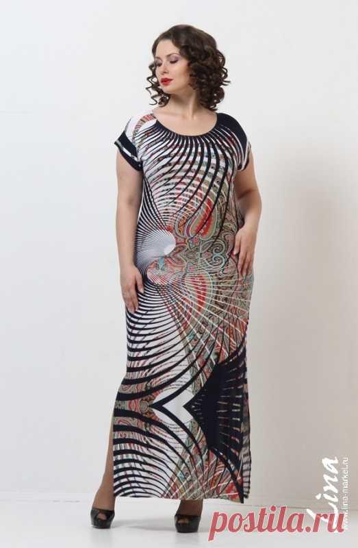 b32eea4eaf3bf1 Модные женские платья больших размеров. Купить красивые платья для полных  женщин в интернет-магазине