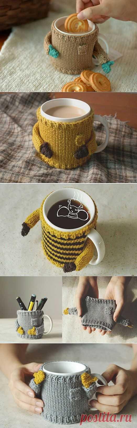 (+1) - Мода для посуды или Уютный свитерок для кружки   Хвастуны и хвастушки