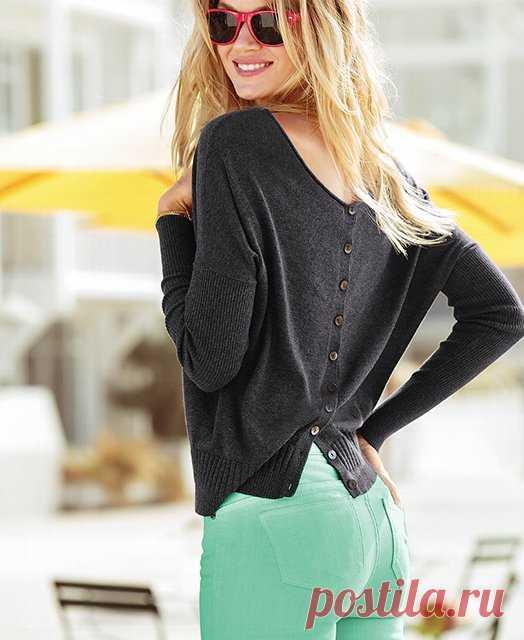 пуговки на спине - это модно