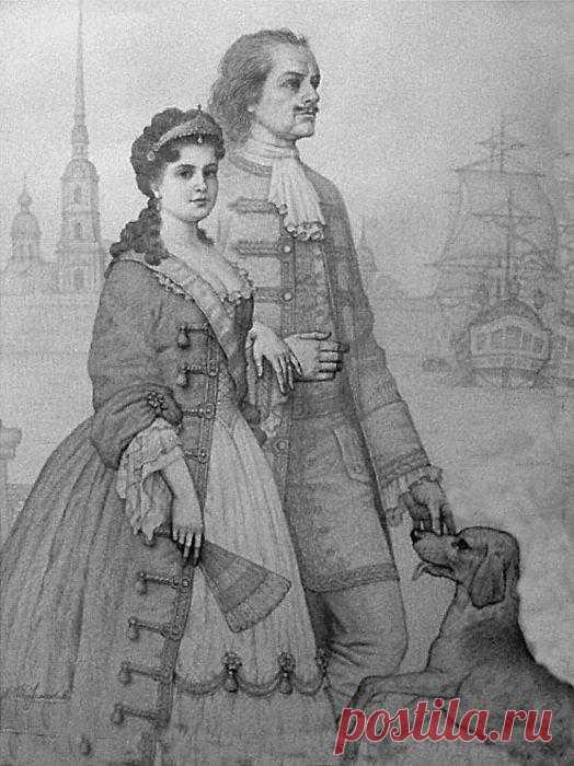 ЕКАТЕРИНА I. ВОСХОЖДЕНИЕ НА ПРЕСТОЛ. После смерти Петра I началась эпоха дворцовых переворотов. Дворцовый переворот 1725 года был первым. К власти приходит Екатерина, жена Петра I .