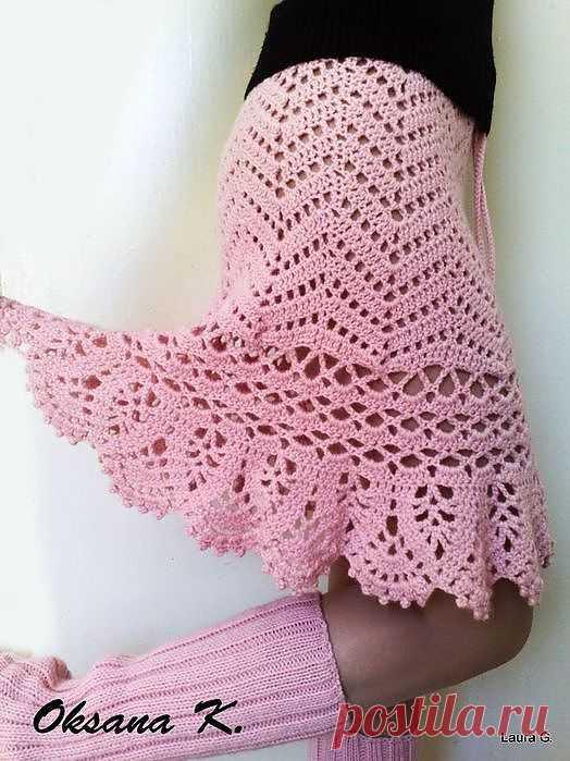 Красивая юбка для Вас! Есть схема.
